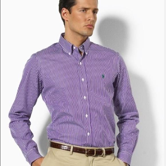 f7c52950 Ralph Lauren Shirts | Purple Striped Dress Shirt | Poshmark